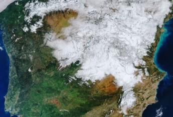 A special image of White Spain from space