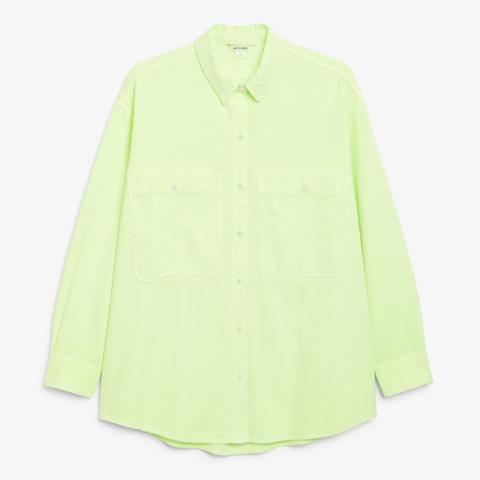 Large size cotton shirt