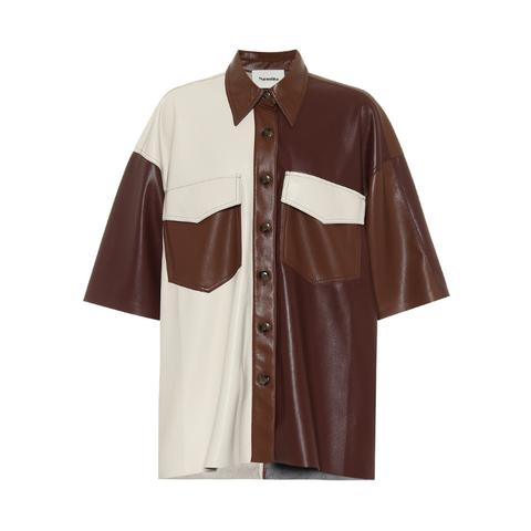 Imitation leather shirt