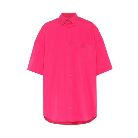 Cotton Poplin Cocoon Shirt