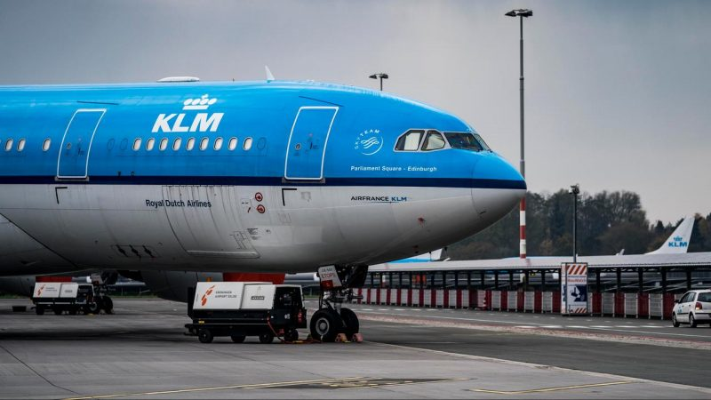 KLM has canceled 200 flights so far due to travel bans to UK and South Africa    right Now