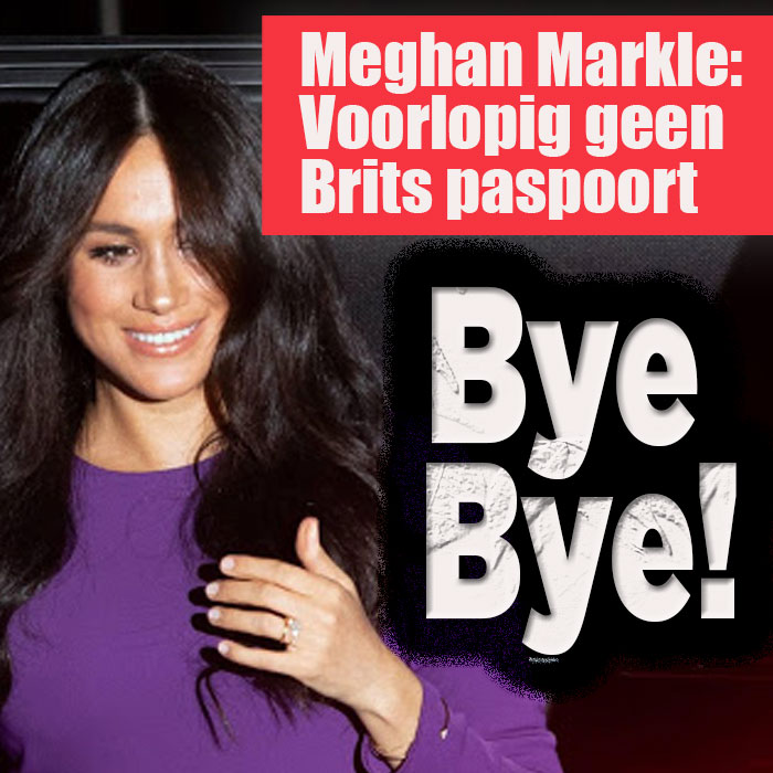 Sheep Meghan Markle on dry land without a British passport
