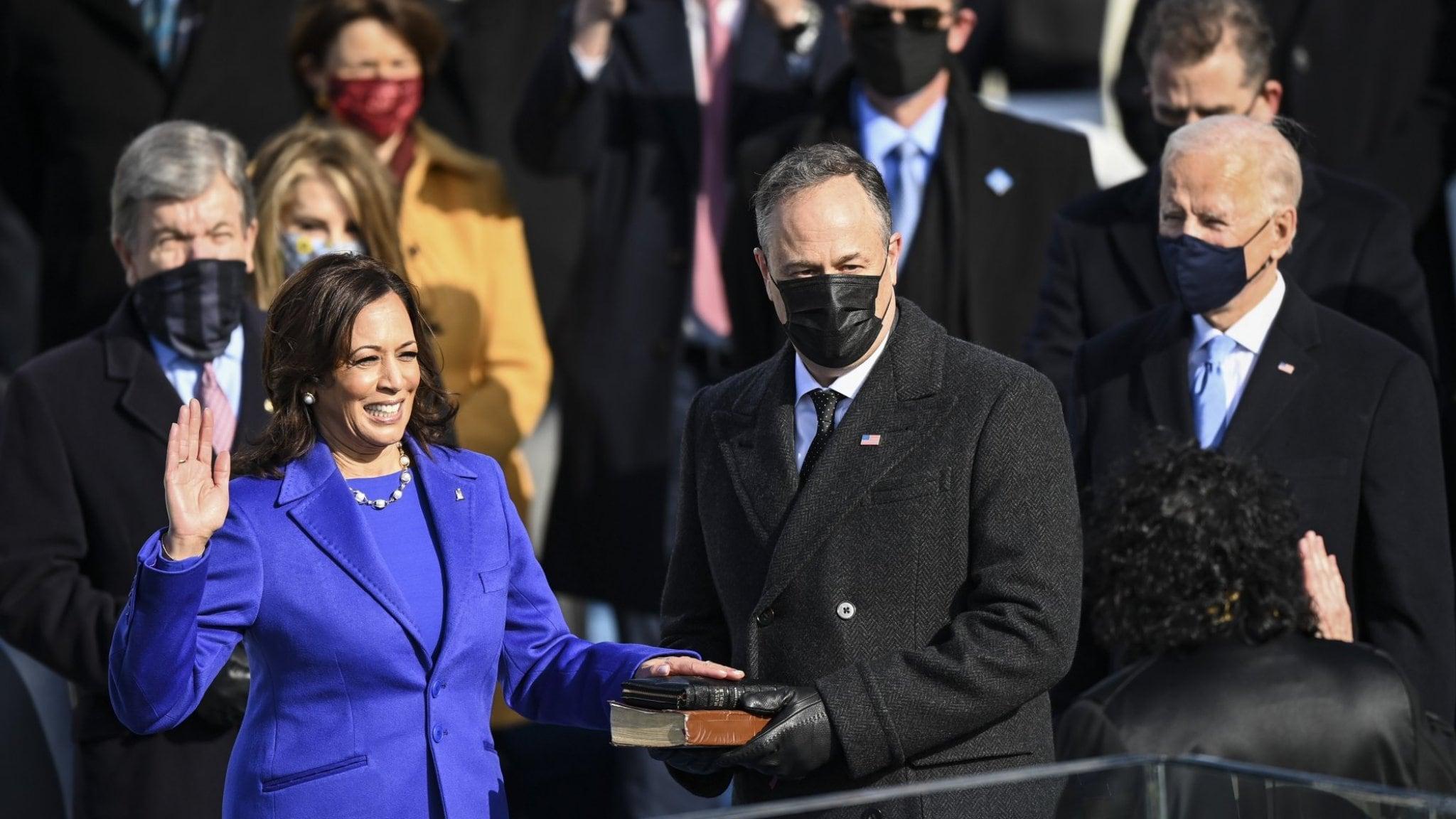 The powerful message behind Kamala Harris' inauguration appearance
