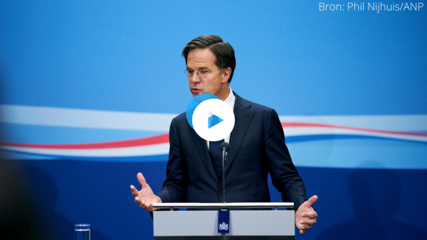 Watch a live press conference Jan 12 by Mark Rutte about the lockdown extension