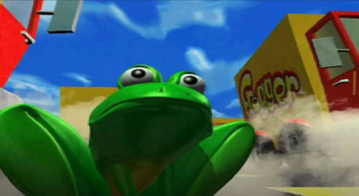 Konami Frogger offers people who are good at crossing busy streets