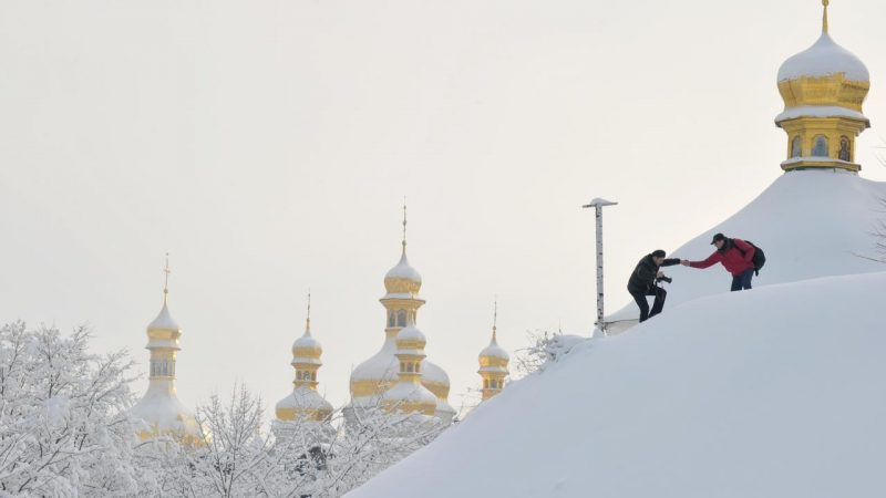 Man in Ukraine invents snowy street murder |  Currently