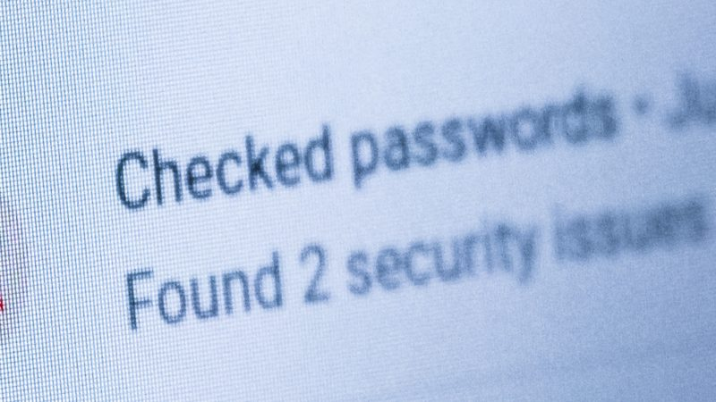 Password managers with warnings - background