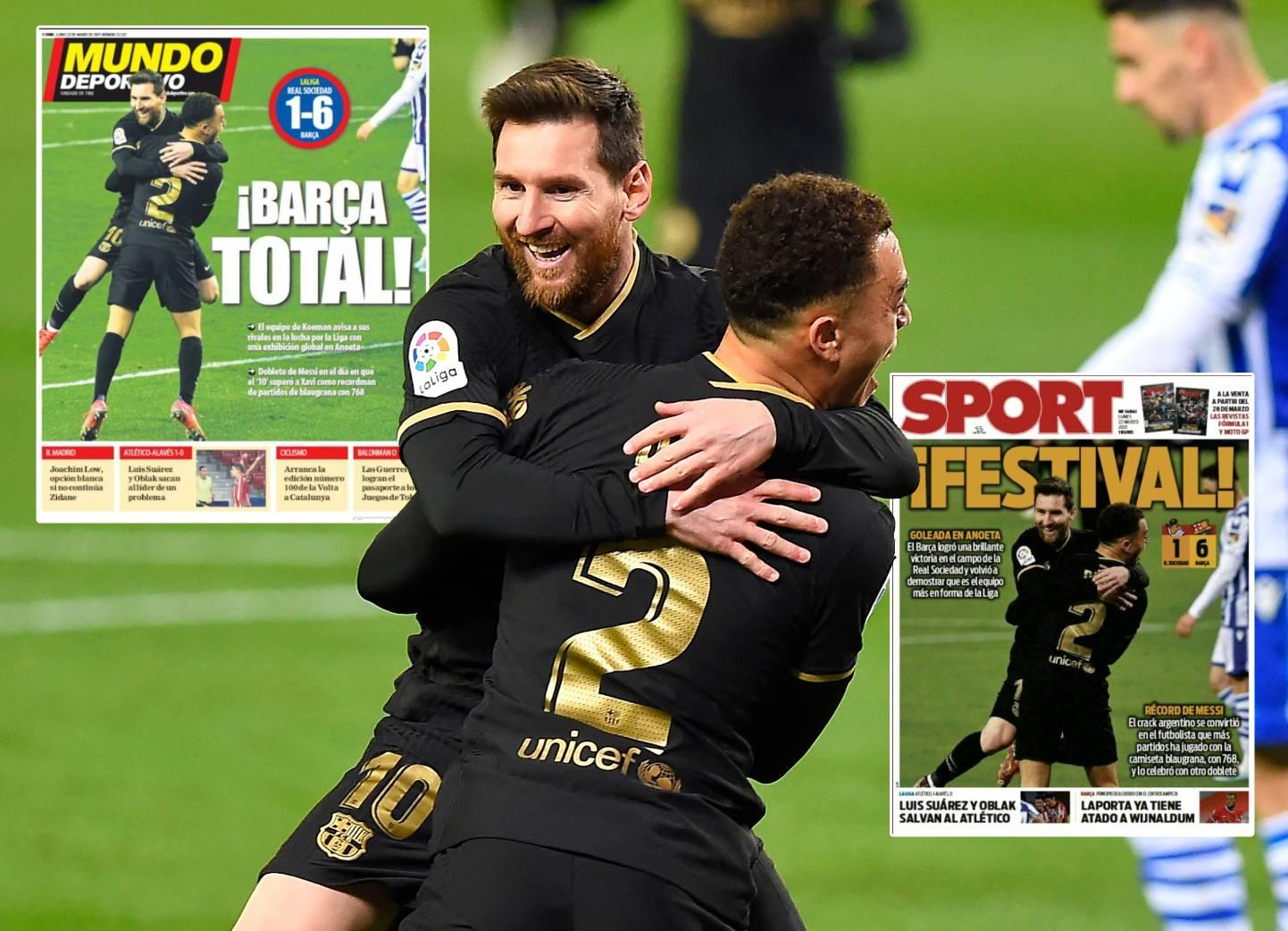 """Spanish media are full of praise for Coman, Dest and Frenkie de Jong: """"The destination and the best"""""""