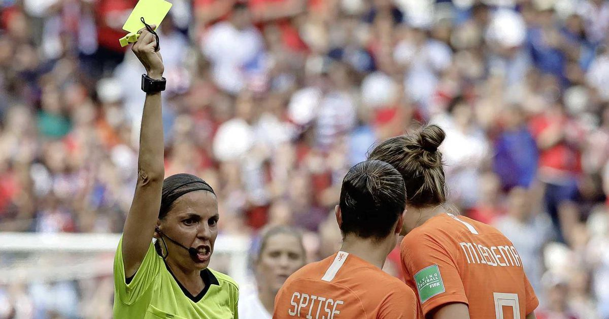 Whistle Orange vs Latvia for the first time by a female |  football