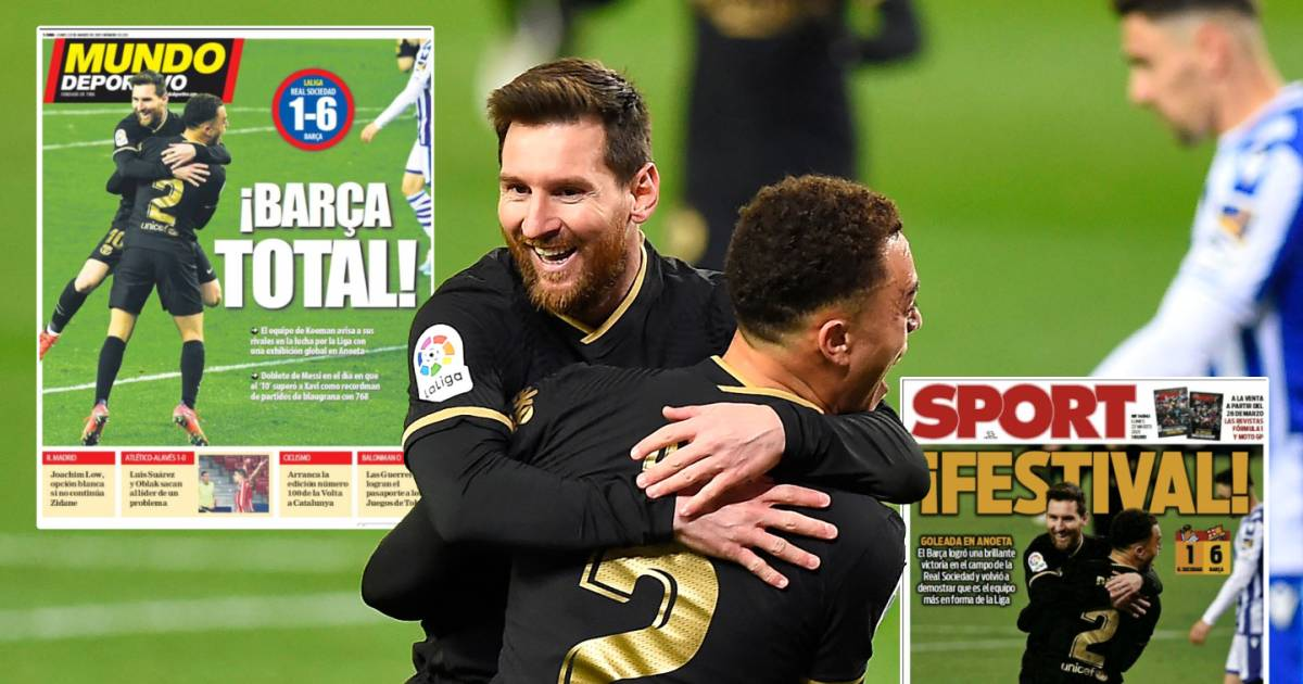 "Spanish media criticize Barcelona: ""Frenkie de Jong was the driving force"" |  Foreign football"