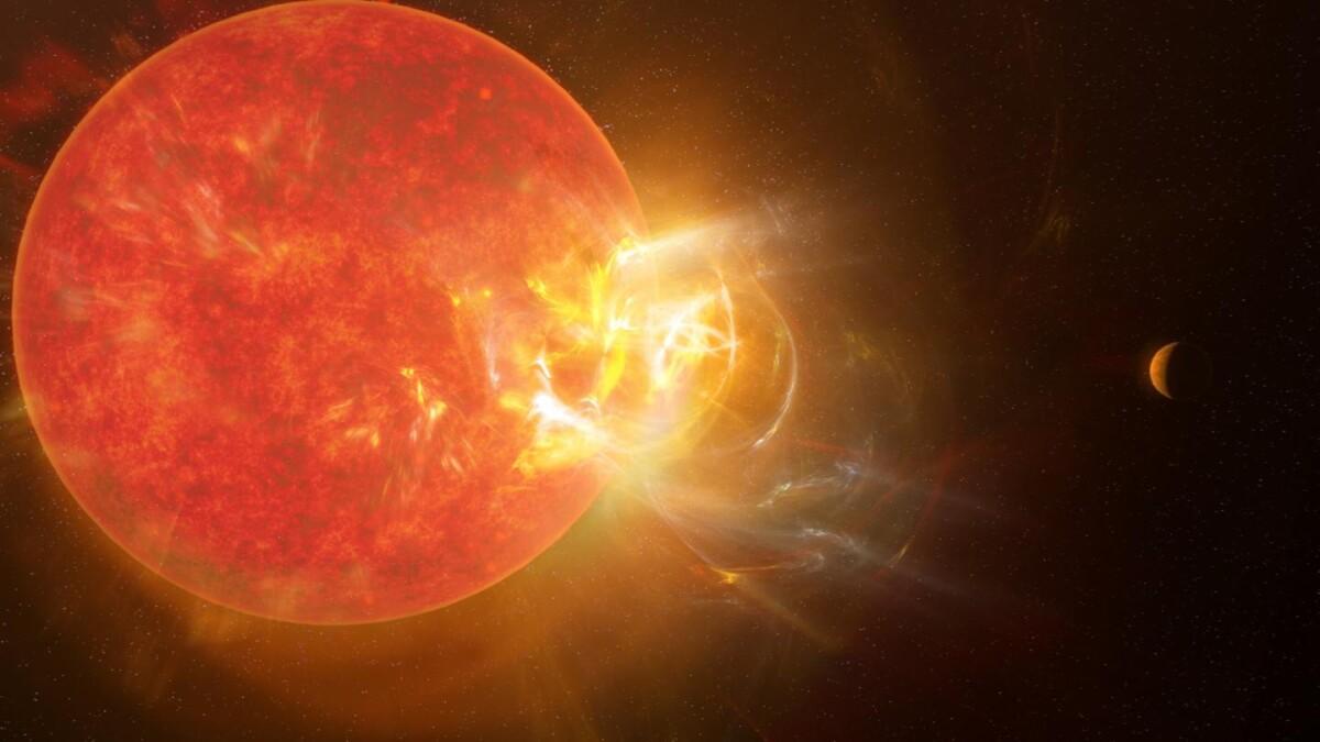 The nearby star Proxima Centauri produces massive solar flares