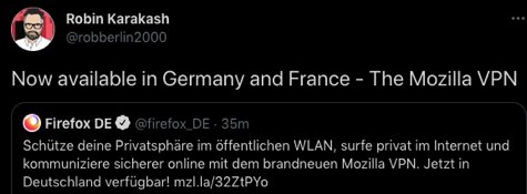 Mozilla launches its own VPN service in Germany and France
