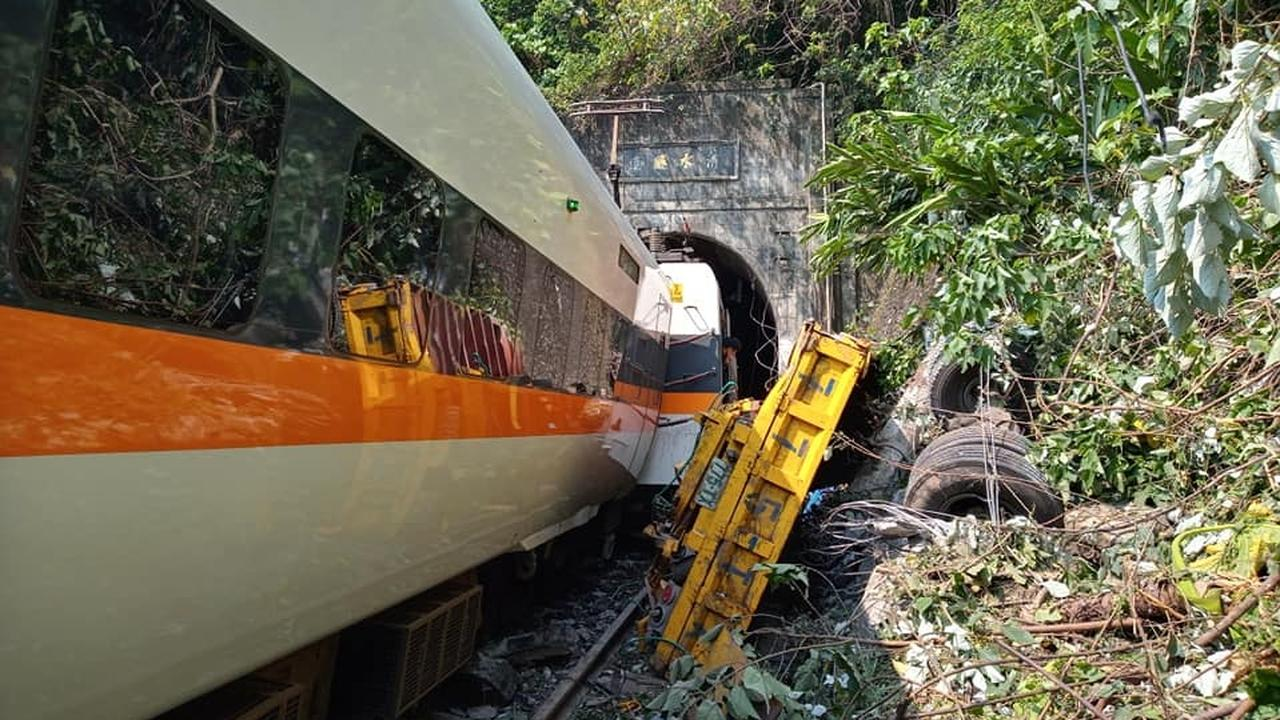 41 dead and dozens injured in a train accident in Taiwan    right Now