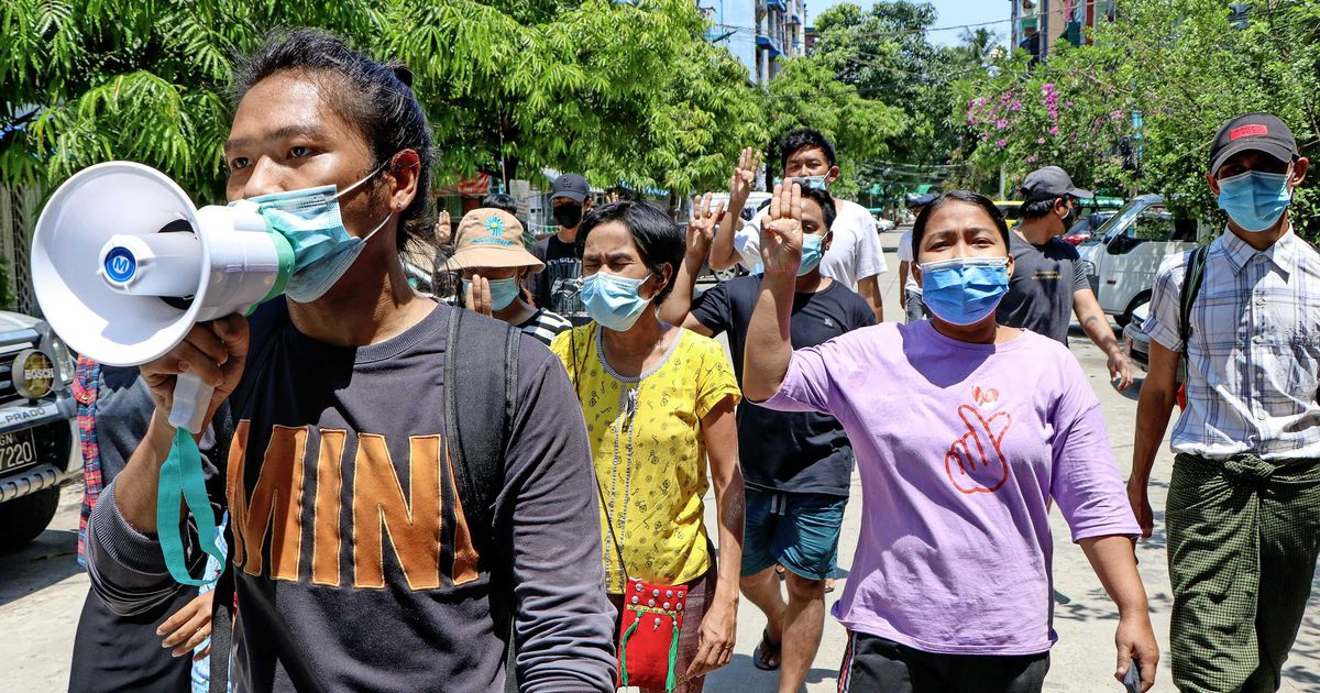 Myanmar military sentences 19 protesters to death |  abroad