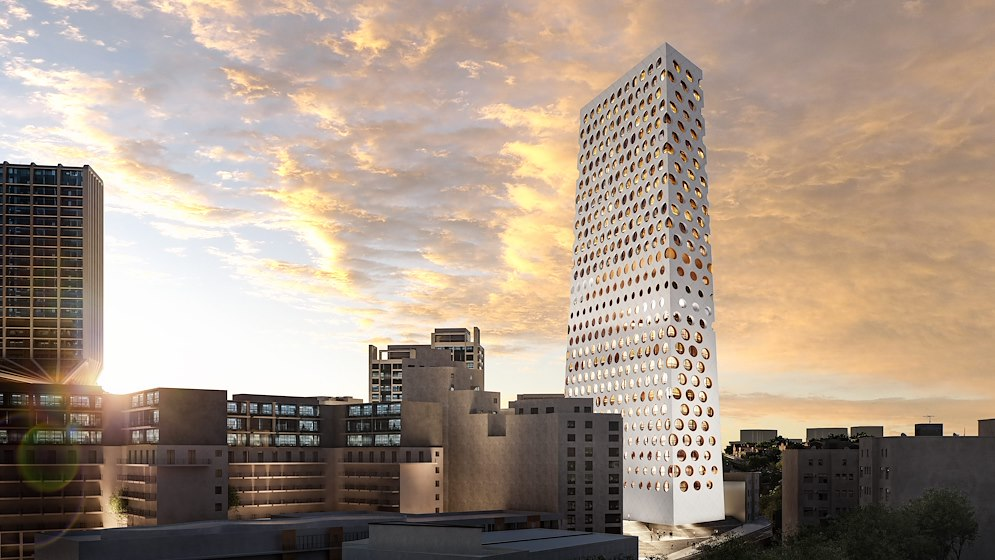 Rotterdam office designs a pure and robust tower for Malta