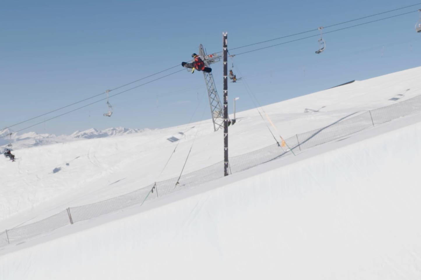 The 16-year-old broke the world record for the highest jump on a snowboard in half a tube