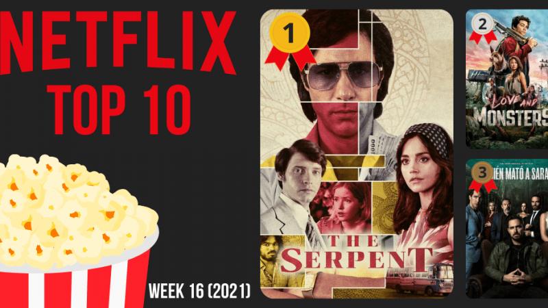 Netflix Top 10 meest bekeken België week 16 2021
