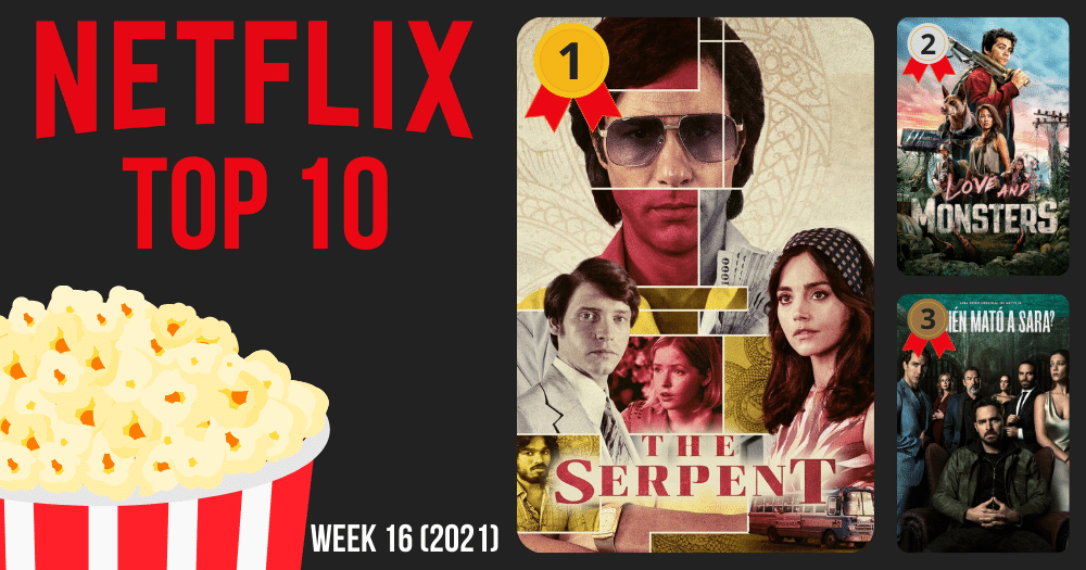 These are the 10 most viewed movies and series on Netflix (week 16 of 2021)
