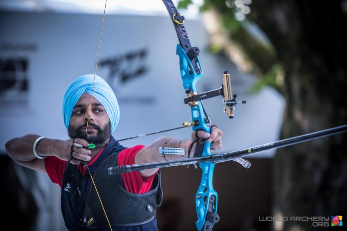 Indian archer draws his bow