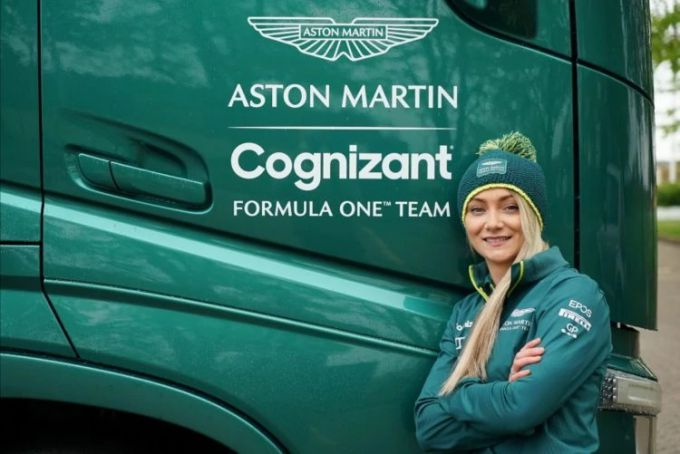 Jessica Hawkins went from film stunt driver to team role of Aston Martin Cognizant Formula One.