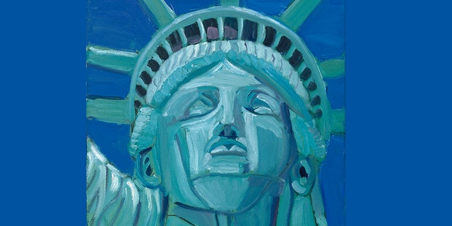 """""""Beacon of hope,"""" Painting of President George W. Bush."""