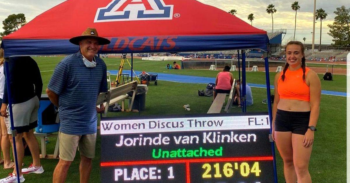 Jorinde van Klinken with playable disc record |  sport