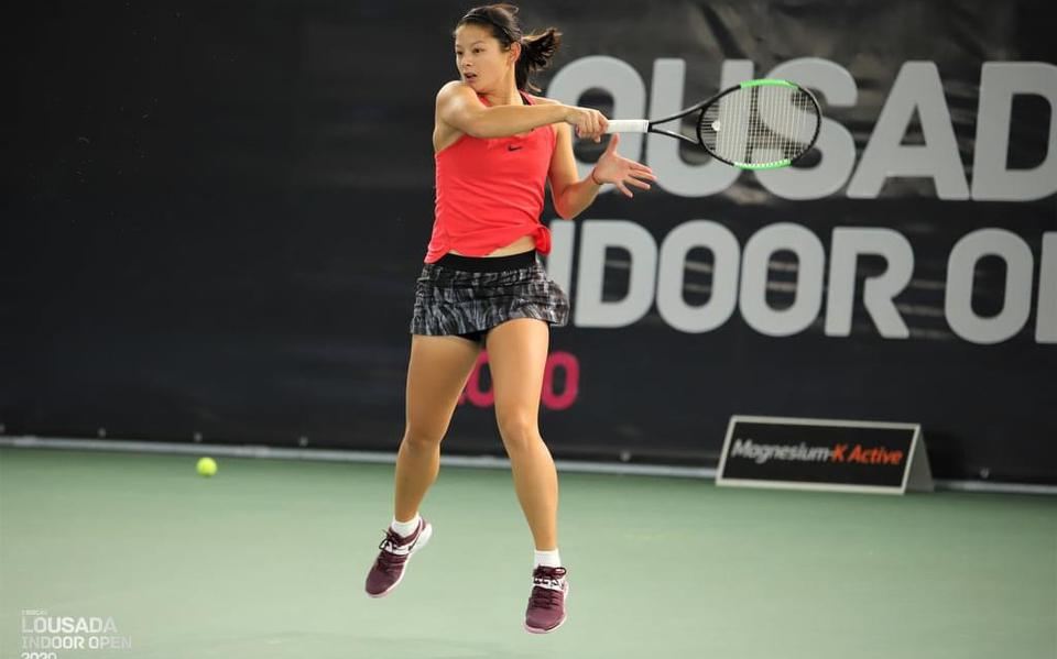 Tennis star Ariane Hartono from Mabel reached the quarter-finals of Pelham in the US