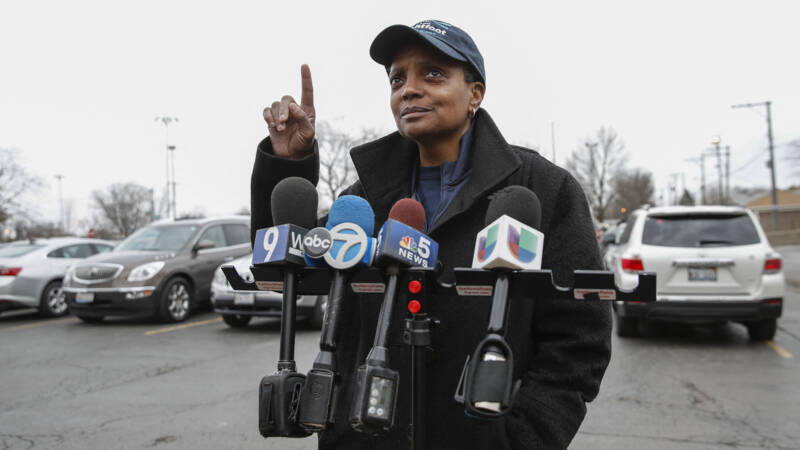 The mayor of Chicago just wants to speak to journalists of color