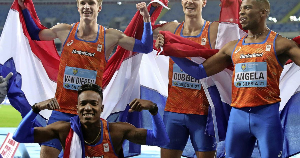 Unique gold medal in the World Cup for Dutch athletes 4×400 meters |  sport