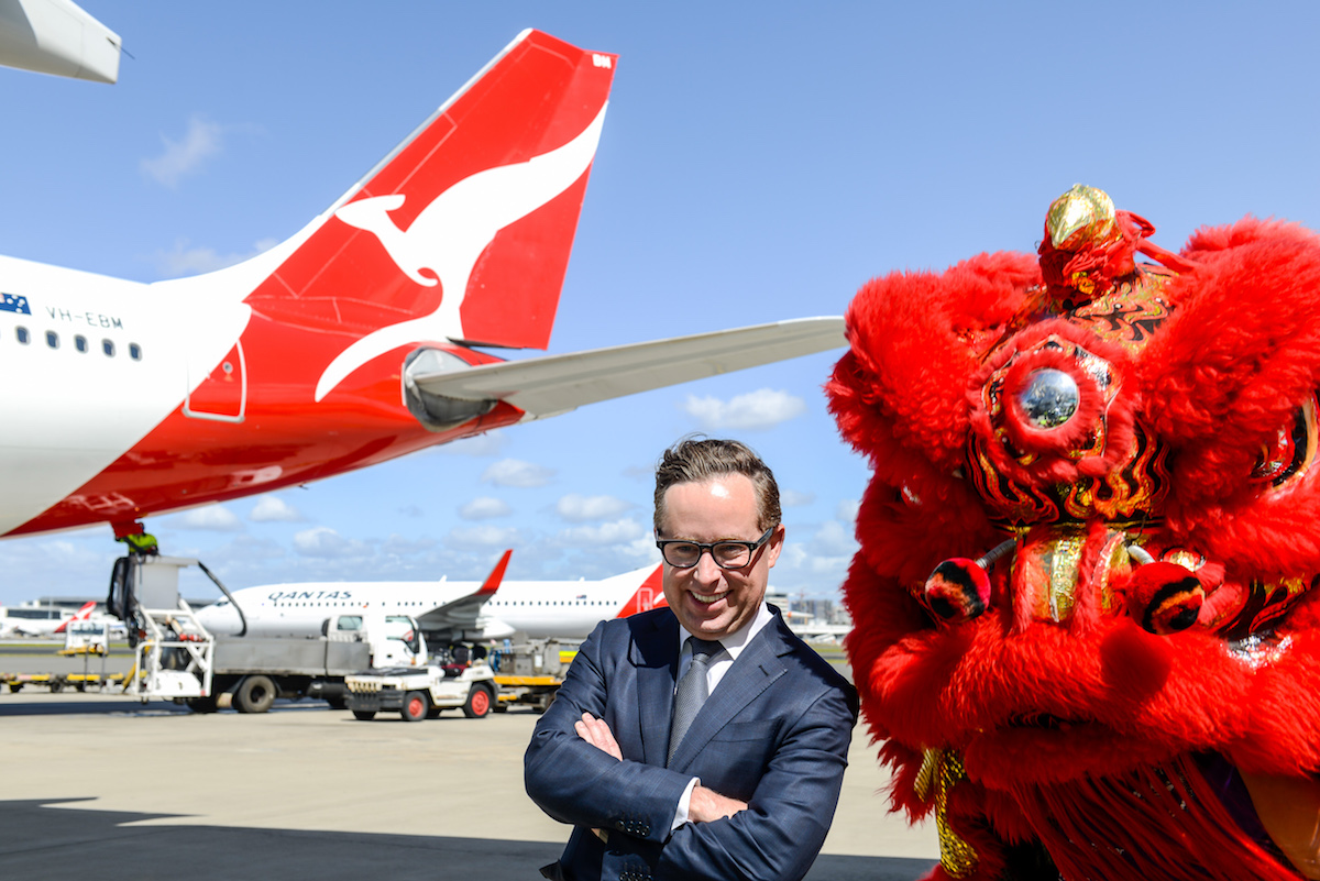 According to the CEO, Qantas passengers are returning to the US and UK