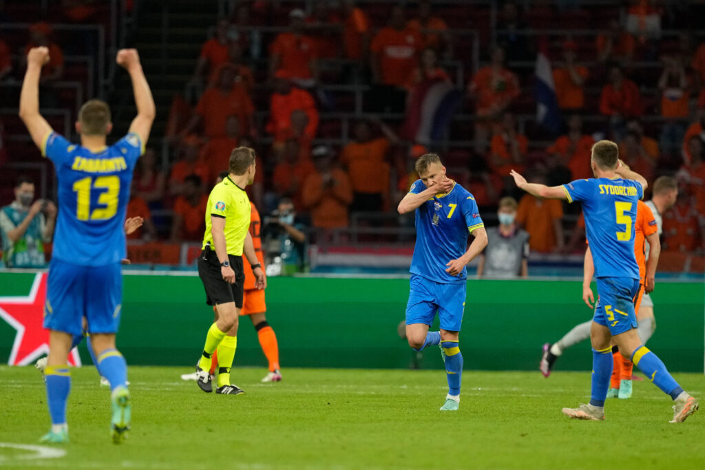 A fan of the Dutch national team spreads quickly after the goal of the world Yarmolenko