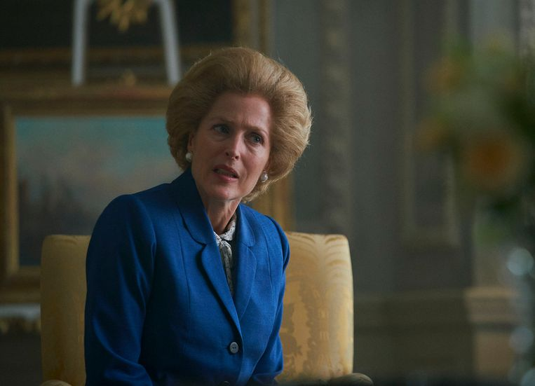 Gillian Anderson won an award for her role as Margaret Thatcher.  AP . image