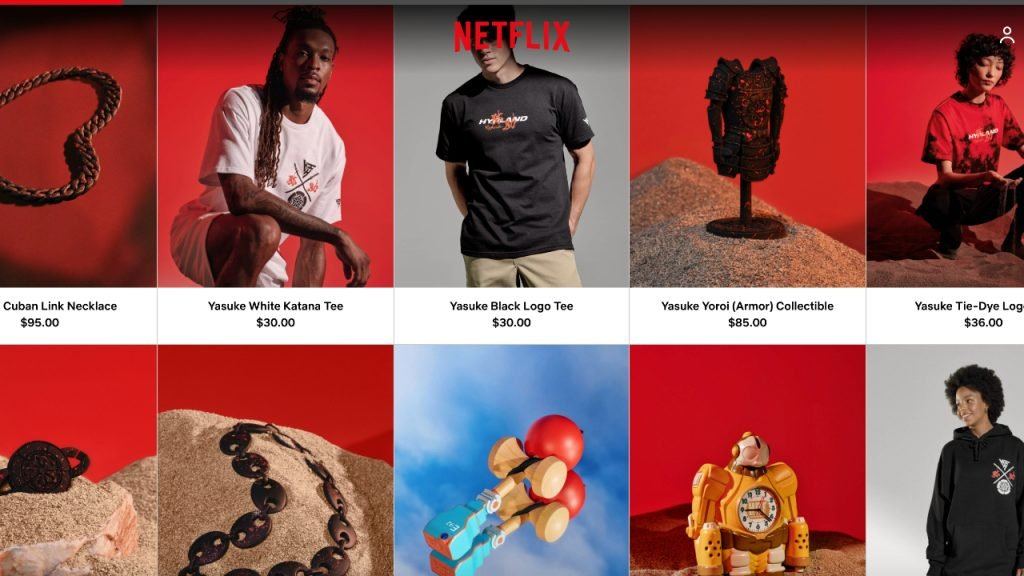 Netflix launches a web store with exclusive merchandise