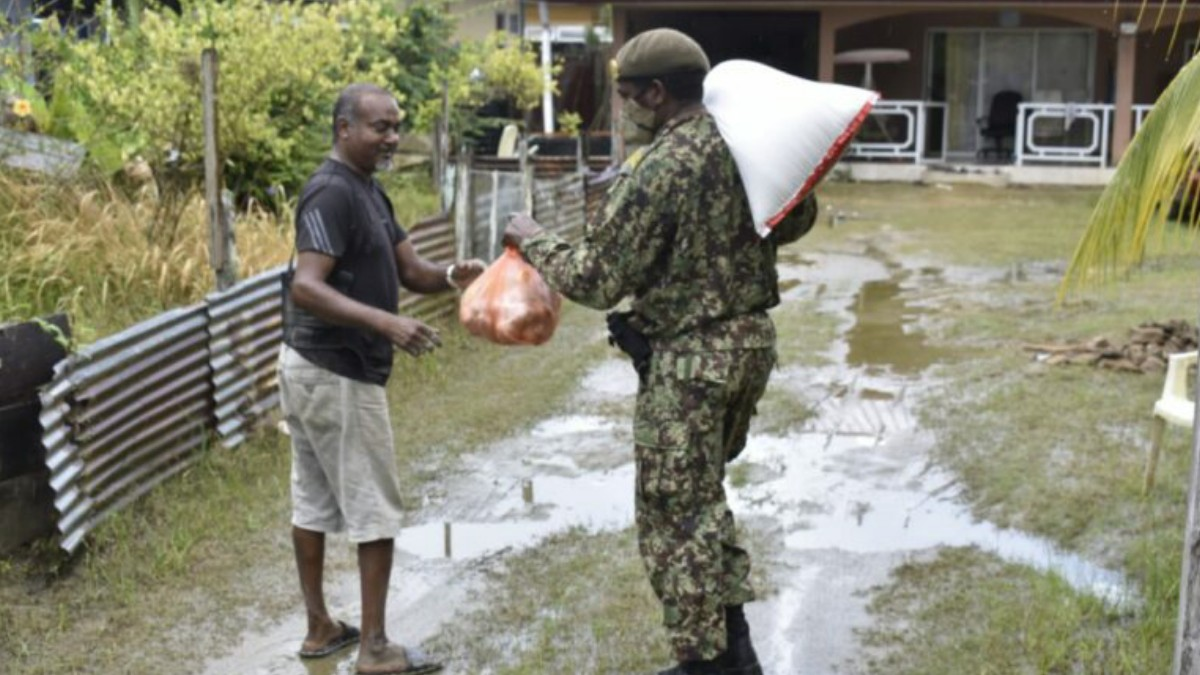Today 1,000 emergency aid packages distributed in Rainville