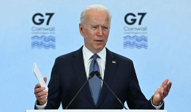 "Biden praises ""exceptional"" cooperation at the G7 summit"
