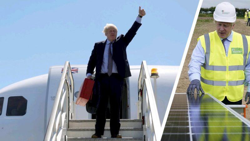 Boris Johnson criticized after short domestic flight for climate talks