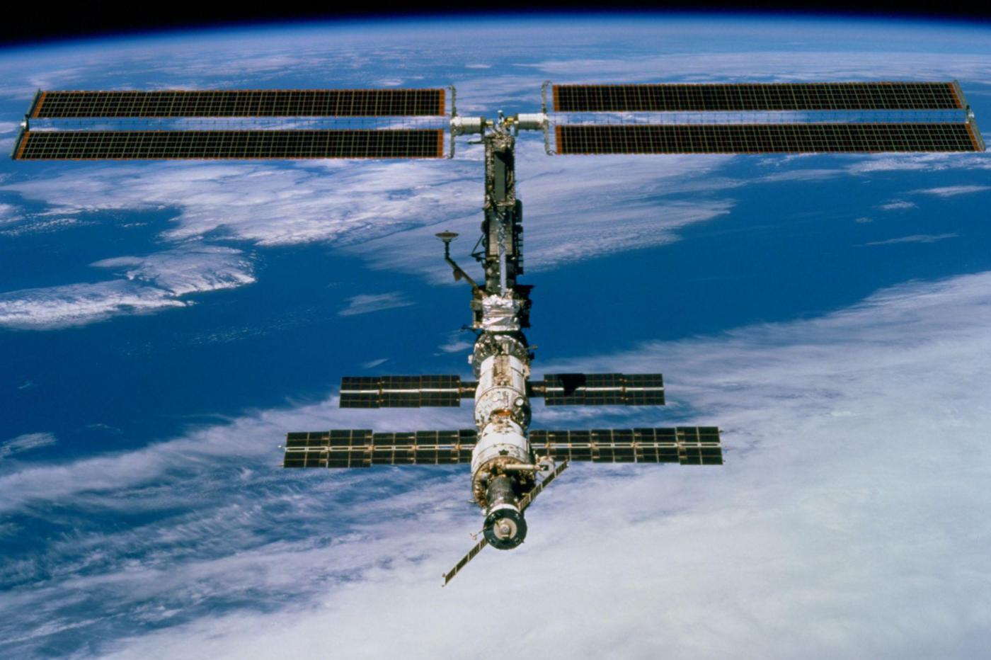 Space debris collides with one of the robotic arms of the International Space Station