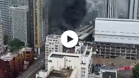The biggest fire at the London train station