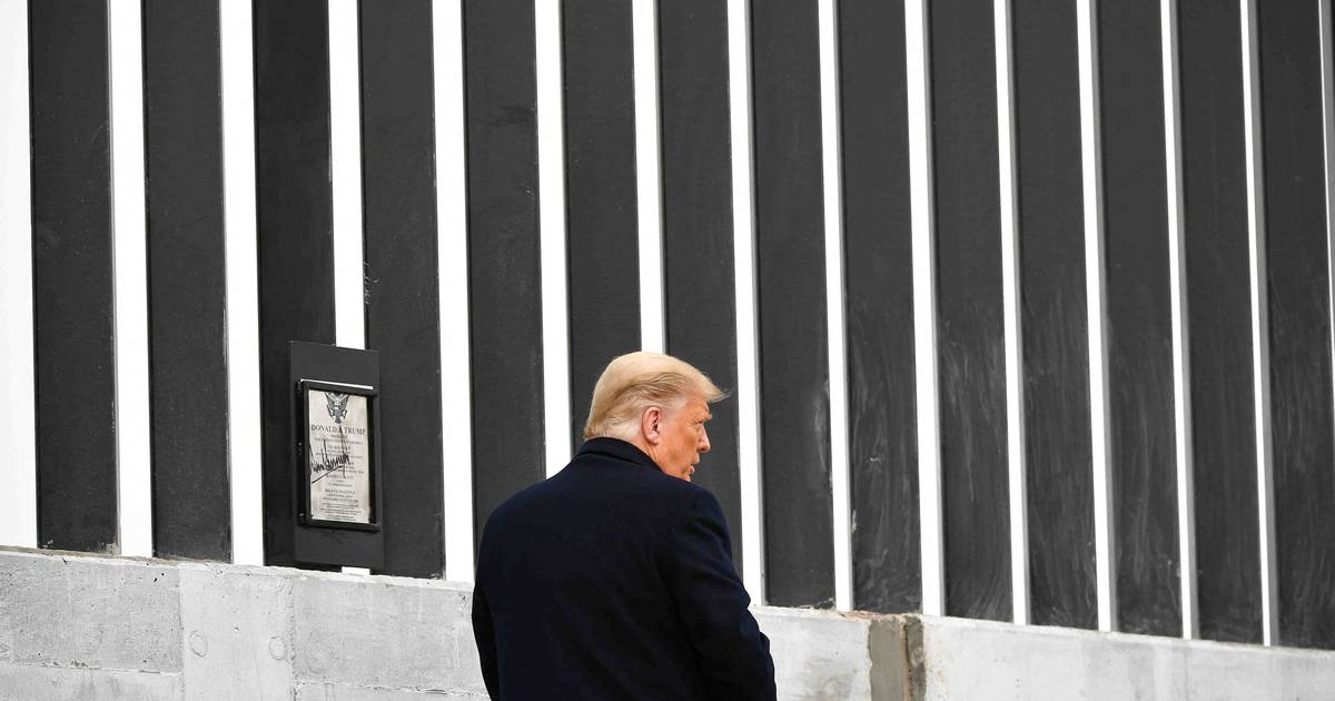 Trump is visiting the U.S. southern border abroad at the invitation of the Texas governor