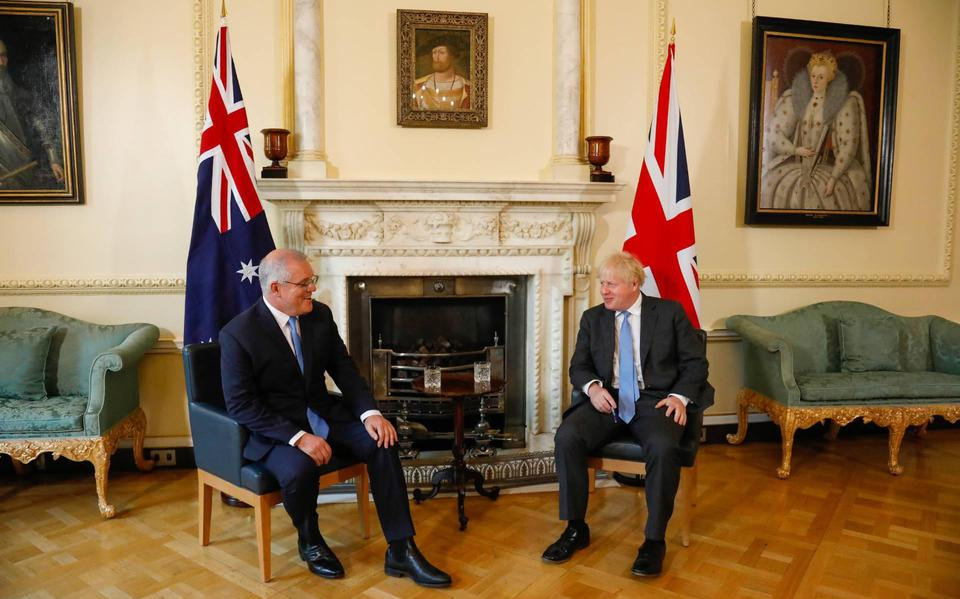 UK agrees with Australia on free trade agreement
