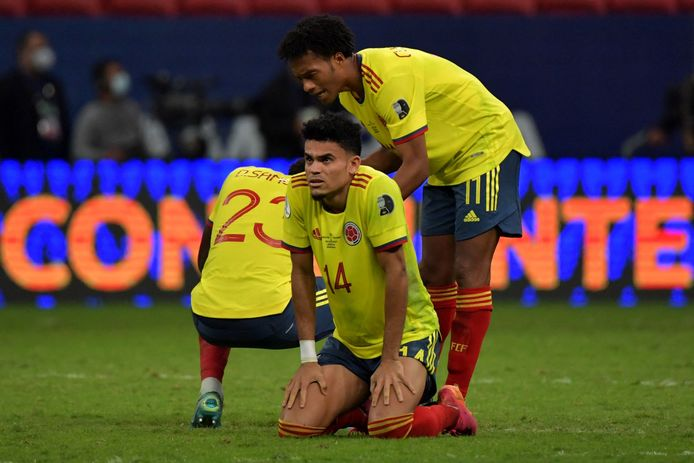 Disappointment with Colombia after their exit from the semi-finals.