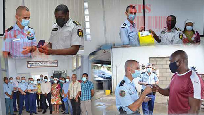 A delegation of the French gendarmerie visits the Suriname Police Force
