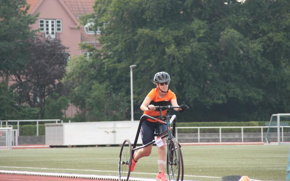 Medals for Juliëtte van Brouwershaven of Hoogeveen during the Frame Running competition in Denmark.  Paralympics will become Paralympic sport in 2024