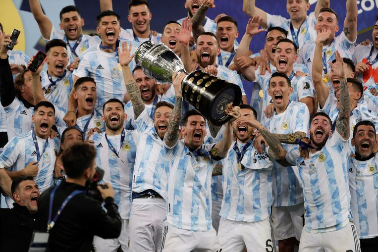 Messi wins first prize with Argentina after beating Brazil in the Copa America final نهائي