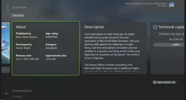 Microsoft Flight Simulator is 97GB on Xbox Series X 34-Consoles |  TweakTown.com