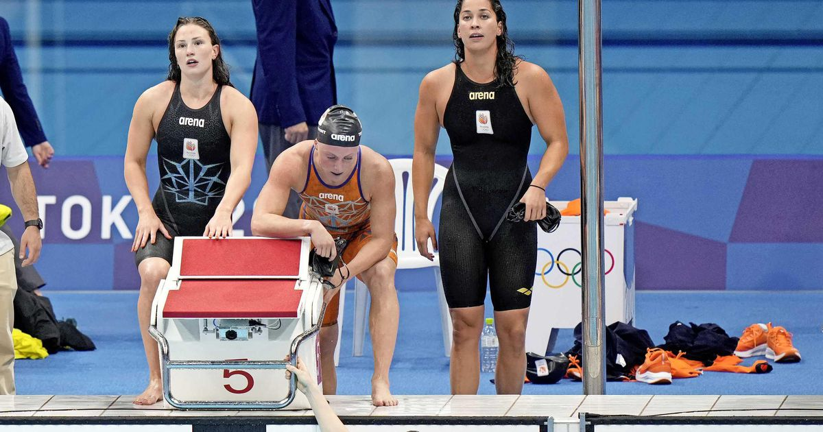 Swimmers miss medals 4 x 100m    sports
