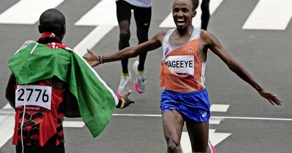 Abdi Nagy wins silver in the Olympic marathon    sports