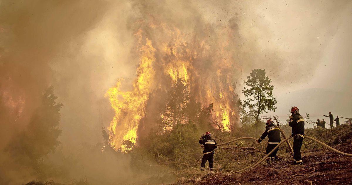 Rain offers hope to Greek fire brigade    abroad