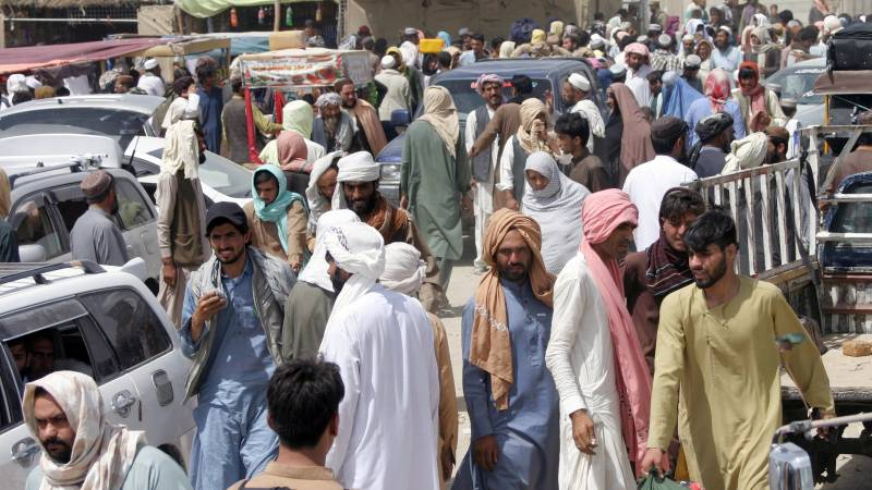 'The number of Afghans fleeing overland to Pakistan is on the rise'