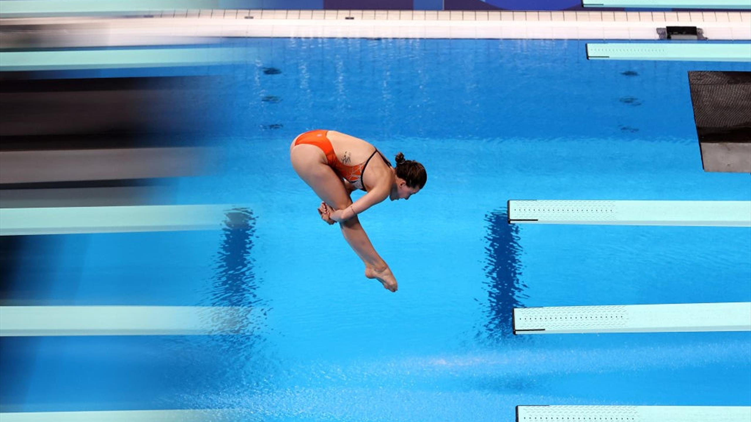 Tokyo 2020 |  Waseem 5th place for Inge Jansen in the diving final